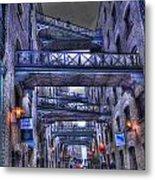 Butlers Wharf London Hdr Metal Print