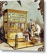 Butter Trade Card, C1880 Metal Print by Granger