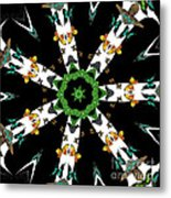 Butterflies Mania Kaleidoscope Metal Print