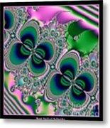 Butterflies On Parade Fractal 123 Metal Print
