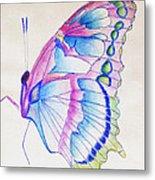Butterflly Print Metal Print