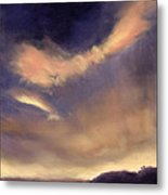 Butterfly Clouds Metal Print