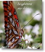 Butterfly Friendship Card Metal Print