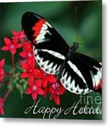Butterfly Holiday Card Metal Print