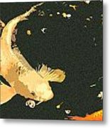 Butterfly Koi Metal Print
