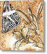 Butterfly Mosaic 02 Elena Yakubovich Metal Print