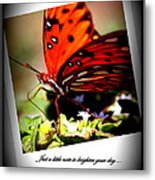 Butterfly Note Card Metal Print