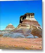 Buttes In The Painted Desert In Arizona Metal Print