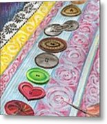 Buttons Down The Ages Metal Print