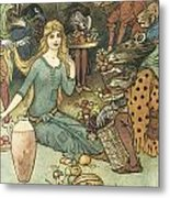 Buy From Us With A Golden Curl Metal Print by Warwick Goble