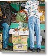Buying Fruit Metal Print
