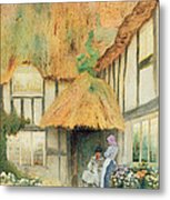 By The Cottage Door Metal Print