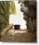 By The Dock Metal Print