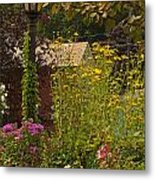 By The Light Of The Garden Metal Print