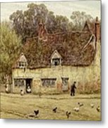 By The Old Cottage Metal Print