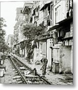 By The Tracks In Hanoi Metal Print