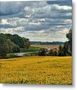Bypass The Country Fields Metal Print