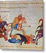Byzantines Cavalrymen Pursuing The Rus Metal Print