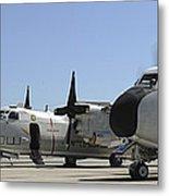 C-2a Greyhound Aircraft Start Metal Print