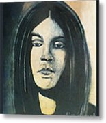 C. J. Ramone The Ramones Portrait Metal Print by Kristi L Randall