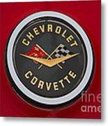 C1 Corvette Emblem Metal Print