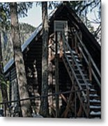 Cabin Get Away Metal Print