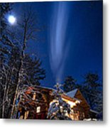 Cabin In Minnesota Metal Print by Garth  Mc Intosh