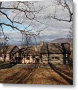 Cabin In The Woods Metal Print by Robert Margetts