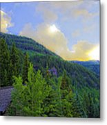 Cabin On The Mountain - Vail Metal Print
