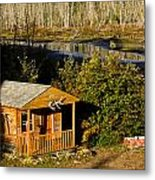 Cabin On The River Metal Print