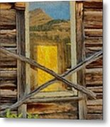 Cabin Windows Metal Print