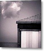 Cabin With Cloud Metal Print