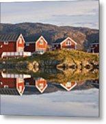 Cabins At Sommaroy, Tromso, Norway Metal Print by David Clapp