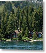 Cabins On The Lake Tahoe Metal Print
