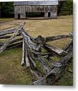 Cable Mill Barn In Cade's Cove No.123 Metal Print