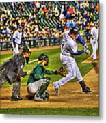 Cabrera Grand Slam Metal Print by Nicholas  Grunas