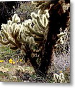 Cactus N Poppies  Metal Print