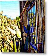 Cactus Reflection Metal Print