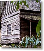 Cades Cove Cabin Metal Print by Jim Finch