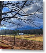 Cades Cove Lane Metal Print
