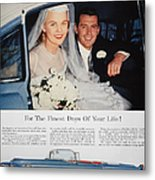 Cadillac Ad, 1955 Metal Print