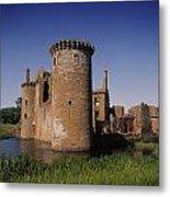 Caerlaverock Castle, Dumfries, Scotland Metal Print