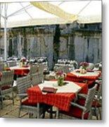 Cafe In Split Old Town Metal Print