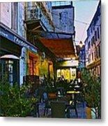 Cafe Terrace On The Place Du Forum Metal Print