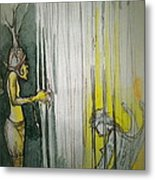 Caged Creature Of God Metal Print by Jackie Rock