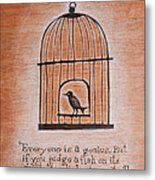 Caged Genius Metal Print by Canis Canon