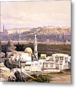Cairo From The Gate Of Citizenib  Looking Toward The Desert Of Suez Metal Print