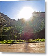 Cajas Mountains Sunset  Ecuador Metal Print