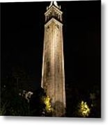 Cal Sather Tower Lights Up The Night Metal Print by Replay Photos