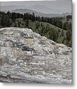 Calcite Bench - Mammoth Hot Springs Metal Print